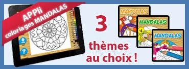 APP coloriage de mandalas - 3 thèmes