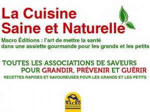 La cuisine naturelle n'est pas un mythe mais une évidence !
