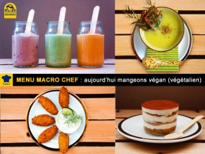 Macro Chef présente un menu végan (végétalien) avec Manuel Marcuccio.
