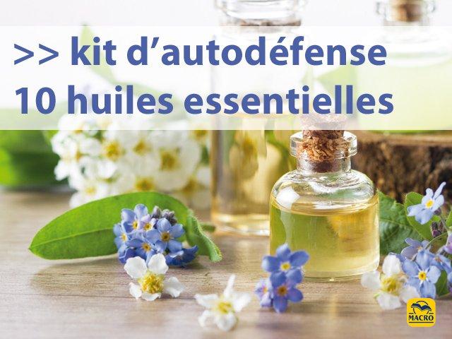 Le kit d'autodéfense (10 huiles essentielles) + 3 recettes