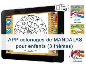 APP COLORING MANDALAS - coloriages thèmatiques pour les enfants