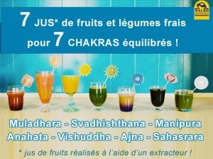 7 jus frais pour 7 chakras en bonne santé !