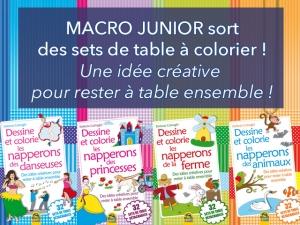 Macro Junior et ses sets de table uniques pour les enfants !