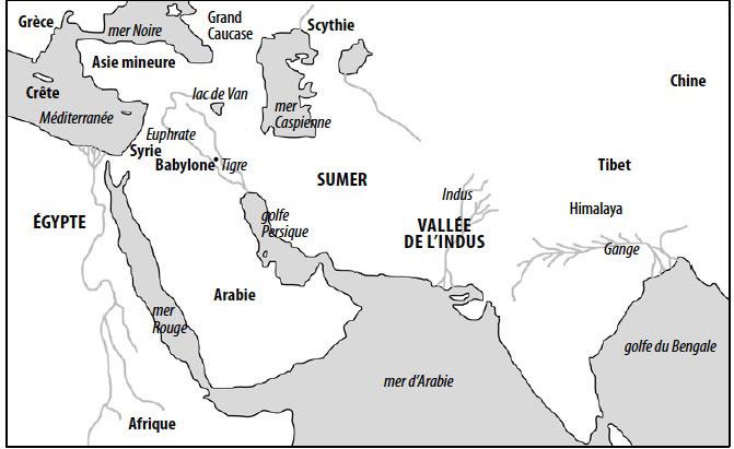 Trois civilisations avancées - Sumer-/Babylone, l'Egypte et la Vallée de l'Indus