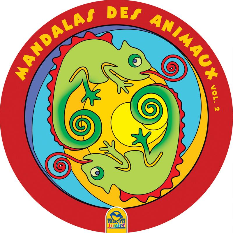 Mandalas ronds grand format des animaux 2 cahier de coloriage - Grand mandala ...