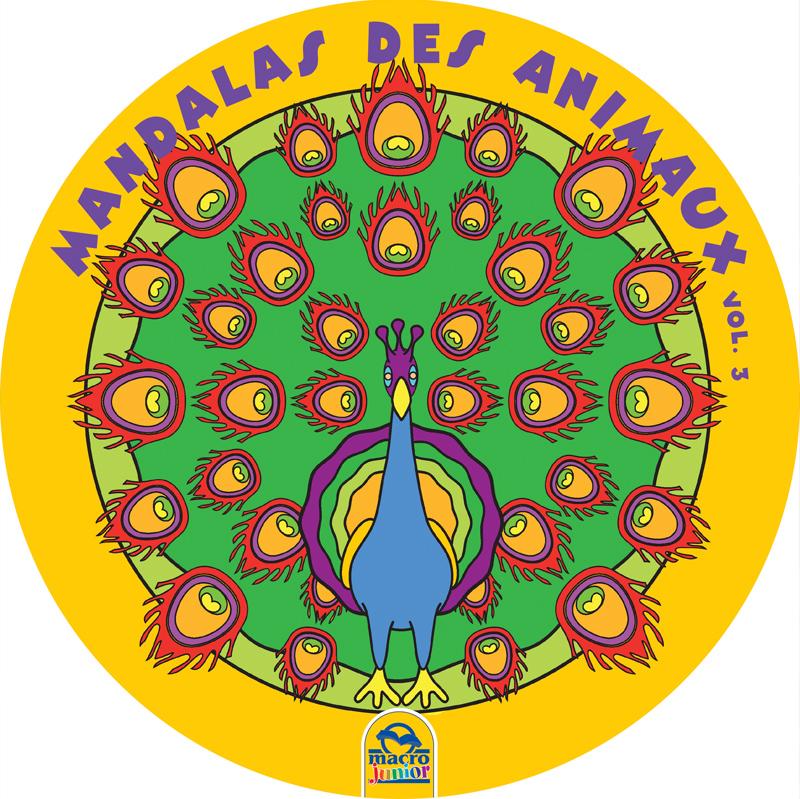 Mandalas ronds grand format des animaux 3 cahier de - Grand mandala ...