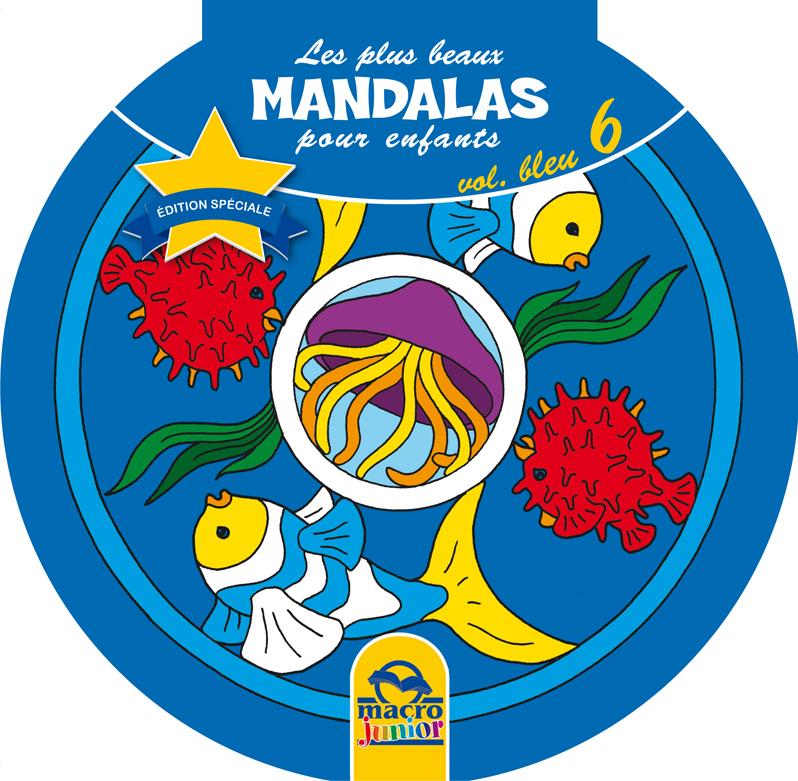 Les plus beaux mandalas pour les enfants bleu cahier de coloriage - Mandala les plus beau du monde ...