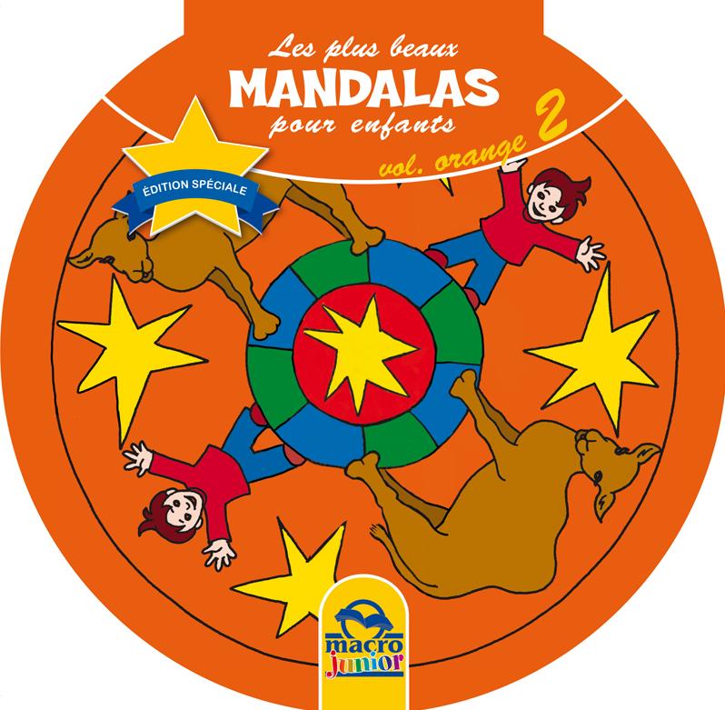 Les plus beaux mandalas pour les enfants orange cahier de coloriage - Mandala les plus beau du monde ...