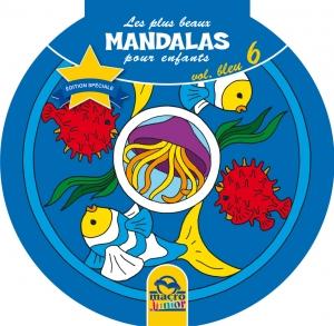 Les plus beaux Mandalas pour les enfants - serie n°1 - Volume Bleu - la mer - Livre