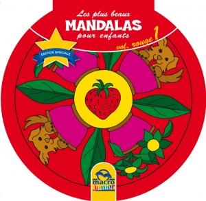 Les plus beaux Mandalas pour les enfants - serie n°1 - Volume Rouge - animaux - Livre