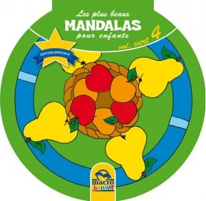Les plus beaux Mandalas pour les enfants - serie n°1 - Volume Vert - Fruits - Livre