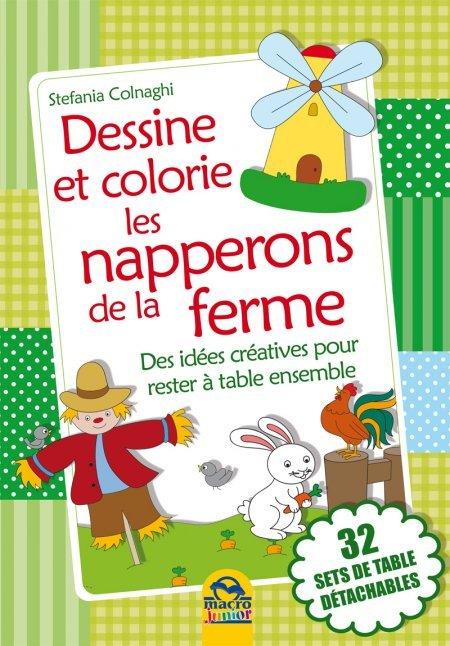 Dessine et colorie les serviettes de la ferme - Livres