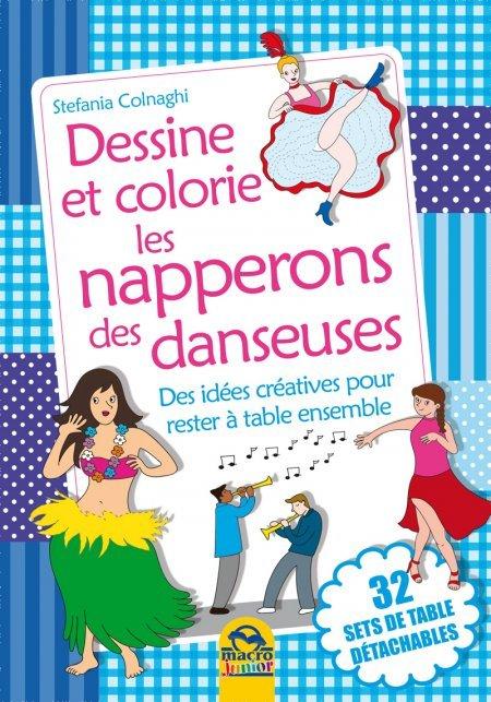 set de table à colorier - la danse