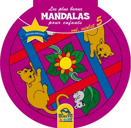 Les plus beaux Mandalas pour les enfants - serie n°1 - Volume Violet - animaux - Livre