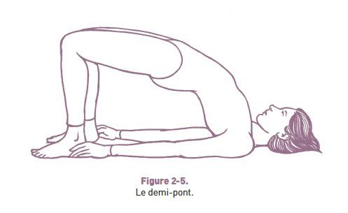 la posture du demi-pont - chakras