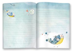 cahier ligné et illustré