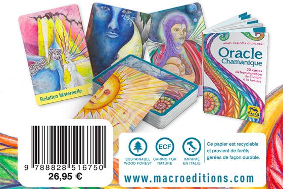 cartes oracle chamanique chez Macro Éditions