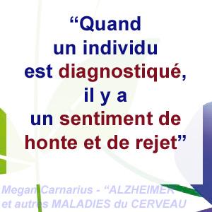 le diagnostic d'Alzheimer et le sentiment de rejet