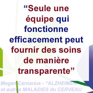 alzheimer - equipe de soin et transparence