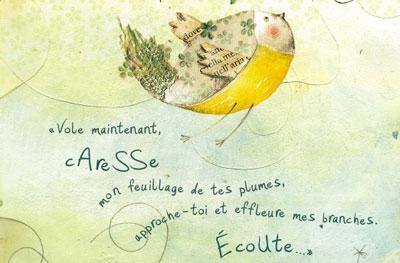 carnet illustré de Claudia Maspoli - thème caresser
