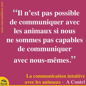 communication avec nous même et avec les animaux