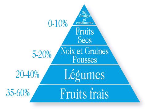 pyramide alimentaire crudiste crudivore