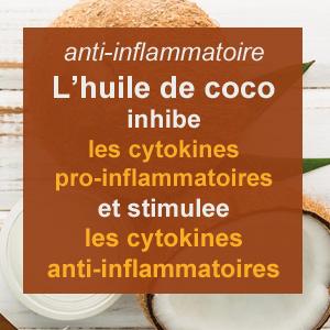 huile de coco anti-infammatoire
