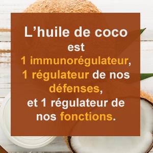 huile de coco immunoregulateur
