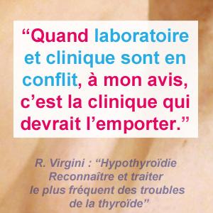 conflit diagnostic laboratoire et clinique - thyroide