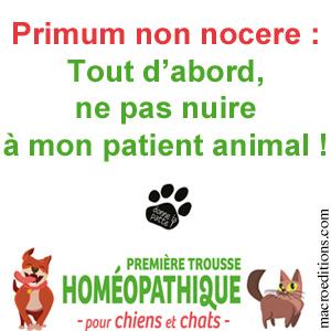 vétérinaire homéopathe - ne pas nuire a mon patient animal