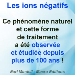 ions négatifs phénomène naturel