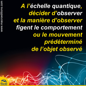 observation quantique comportement figé