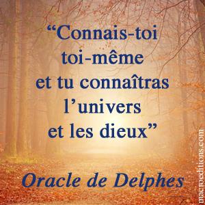 oracle de Delphes - connais-toi toi-même