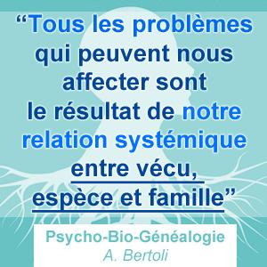 relation systémique de la maladie - bio généalogie