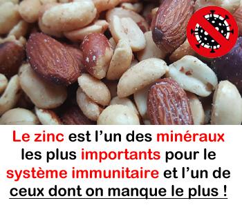 virus et zinc mineral