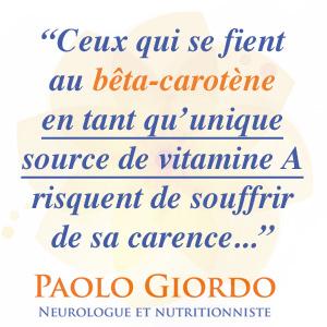 limiter sa source de vitamine A au bêta-carotène est risqué