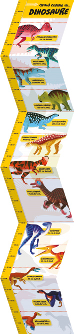 toise à mesurer les enfants - dinosaure