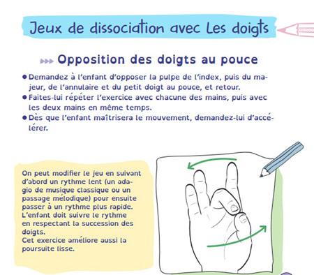 exercice de position doigts pour une meilleure apprentissage enfant