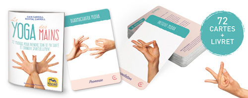 72 cartes de mudras, yoga des mains