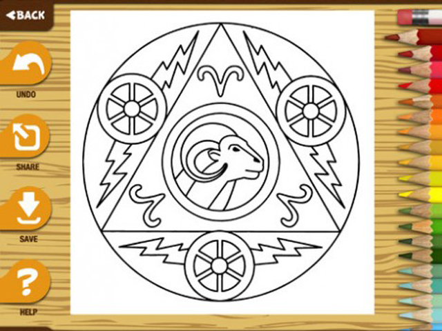 Appli coloriage de mandalas - signe du zodiaques