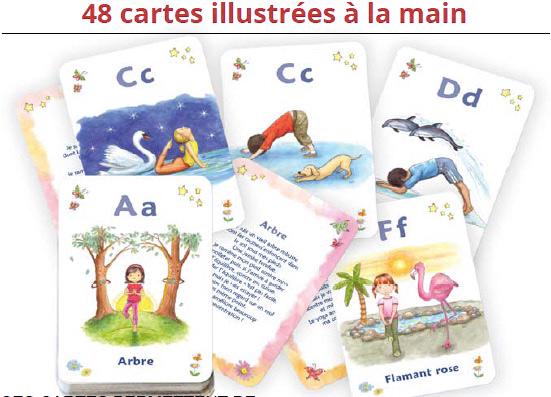 les cartes illustrée du yoga pour les enfants chez MacroJunior