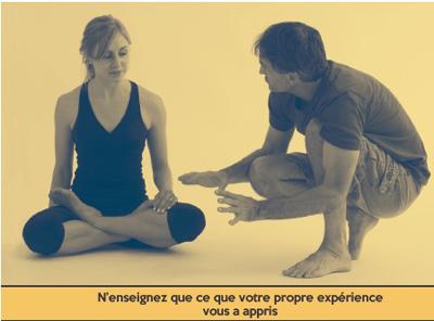 enseigner les asanas- yoga