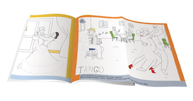 interne - set table à colorier - la danse
