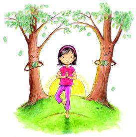 exercice yoga enfant - arbre
