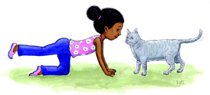 exercice yoga enfant - chat